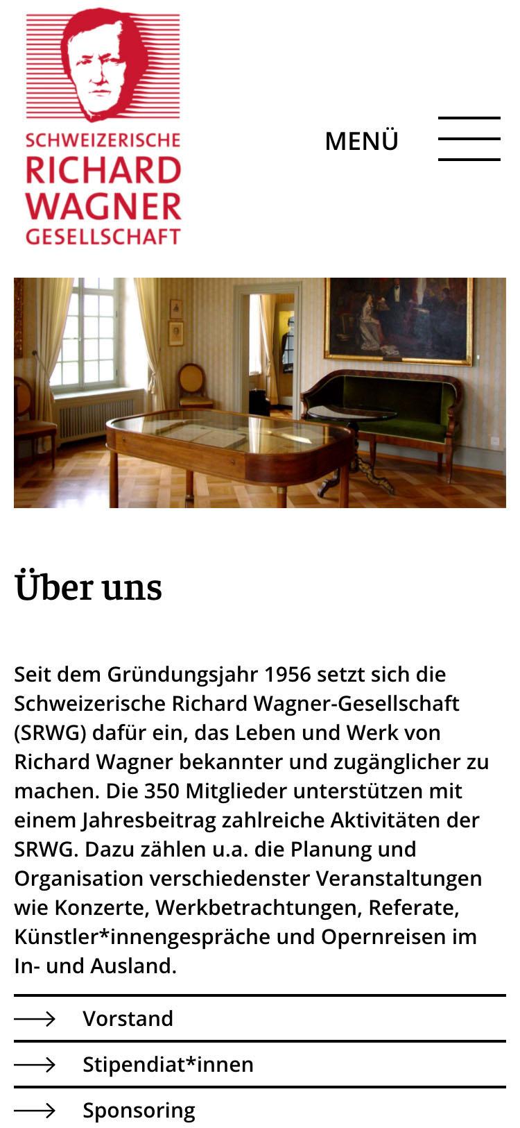 Schweizerische Richard Wagner-Gesellschaft (SRWG) Mobile
