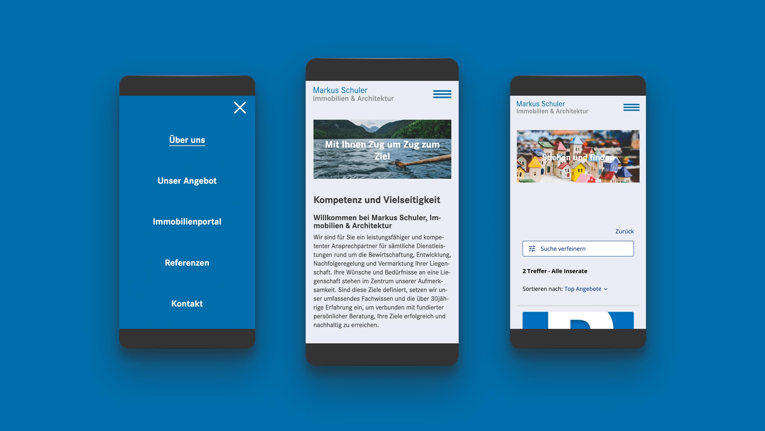 markus schuler immobilien architektur website